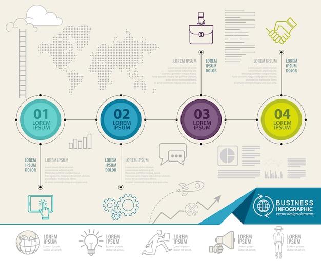 Infographics elemente mit geschäftsikonen