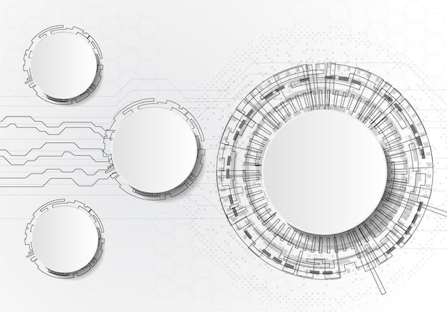 Infographics mit kreistechnologie auf weißem backgraund