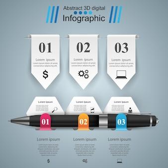 Infographik 3d-design.