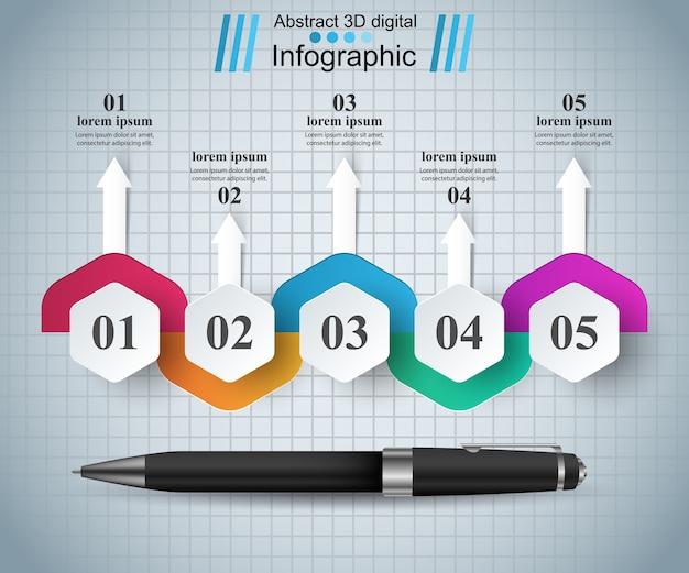 Infographik 3d-design