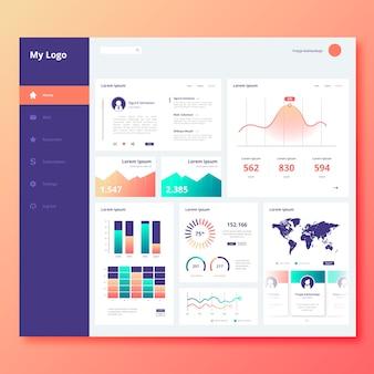 Infographik benutzer panel dashboard