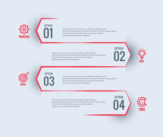 Infographik business template-design