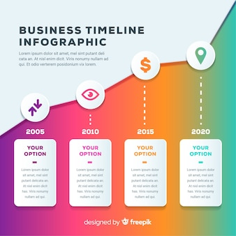 Infographik business timeline