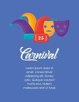 Infographik des karnevals-konzeptes