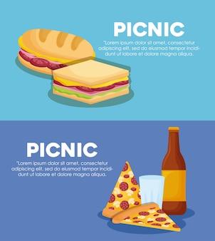 Infographik des picknick-konzeptes