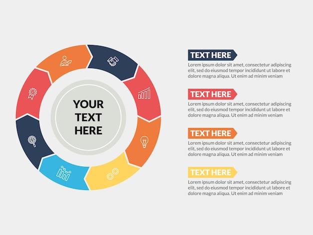 Infographik design flachen stil