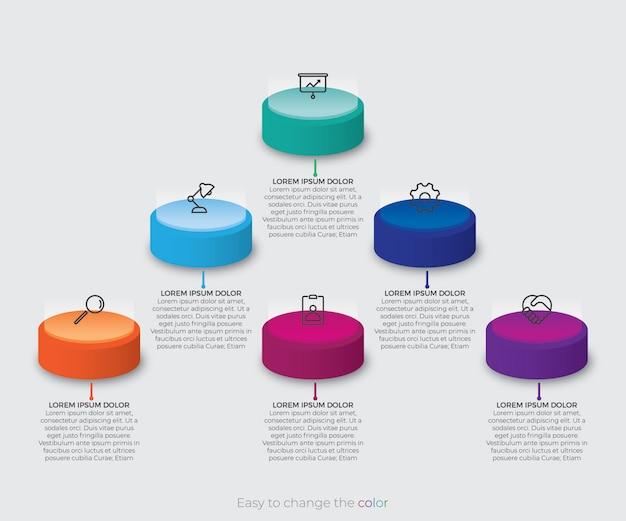 Infographik design mit 3d isometrischen stil