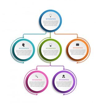 Infographik design organigramm vorlage.
