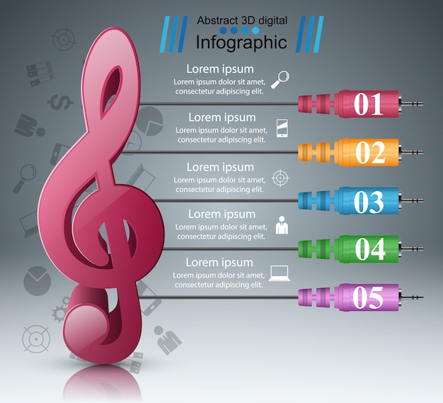 Infographik designvorlage und marketing-symbole. symbol beachten.