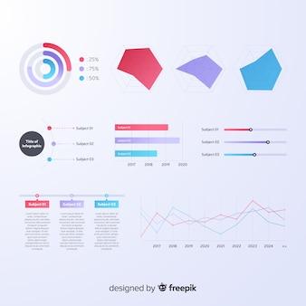 Infographik element sammlung