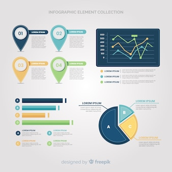 Infographik element sammlung