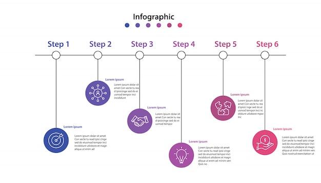 Infographik element schritt infochart planung