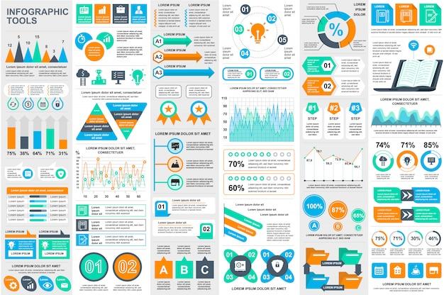 Infographik elemente daten visualisierung vektor entwurfsvorlage