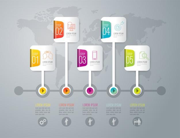 Infographik elemente der zeitleiste