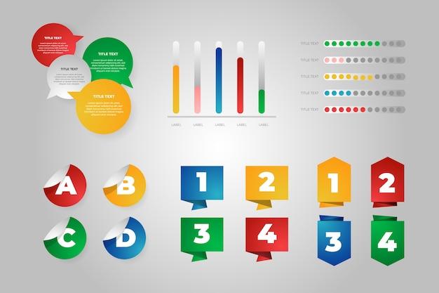 Infographik elemente farbverlaufsvorlage