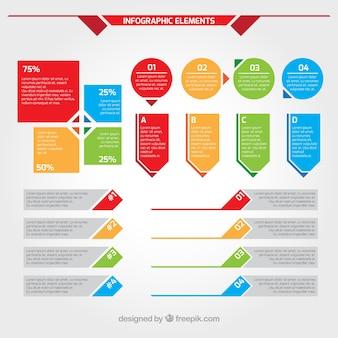Infographik elemente festgelegt