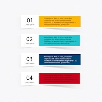 Infographik elemente im modernen flachen business-stil.