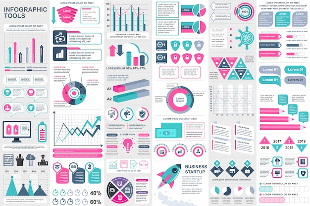 Infographik elemente vektor entwurfsvorlage