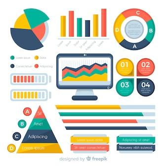Infographik elementsammlung