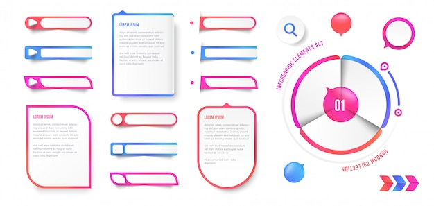 Infographik elementsatz