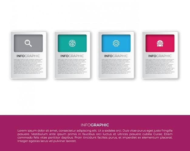 Infographik etikettendesign mit symbolen