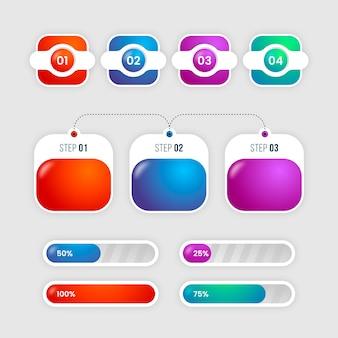 Infographik farbverlauf festgelegt