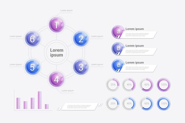 Infographik farbverlaufselemente
