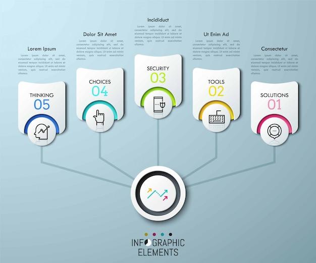 Infographik geschäftsvorlage
