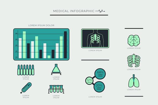 Infographik gesundheitswesen medizinisch