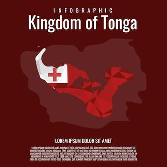Infographik königreich tonga