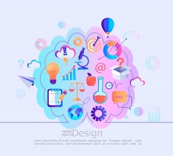 Infographik Konzept der verschiedenen Kenntnisse