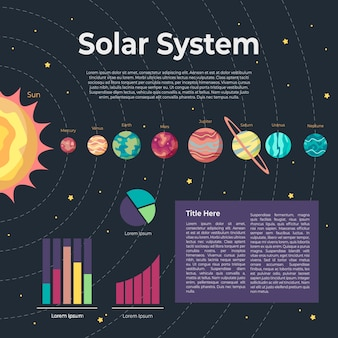 Infographik konzept des sonnensystems