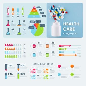 Infographik medizinische mit foto