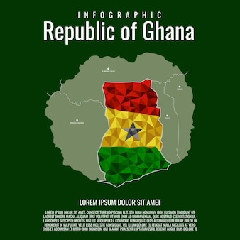 Infographik republik ghana