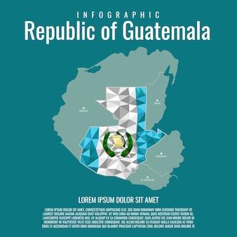 Infographik republik guatemala