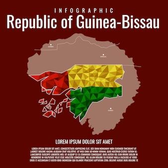 Infographik republik guinea-bissau