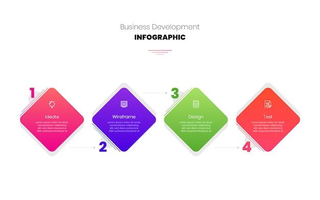 Infographik schritte business template design
