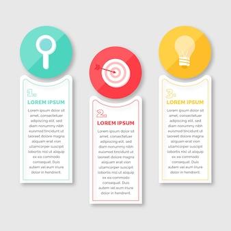 Infographik schritte in flaches design