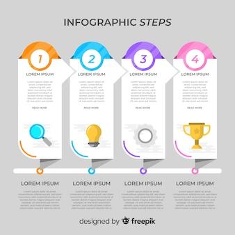 Infographik schritte konzept