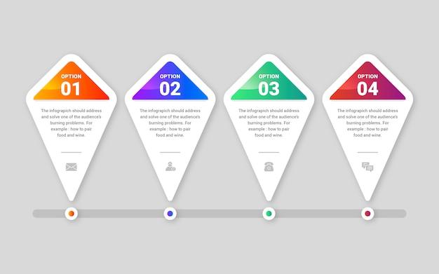 Infographik schritte sammlung