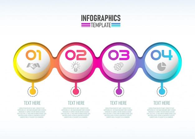 Infographik template-design für unternehmen