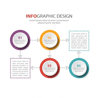 Infographik template-design