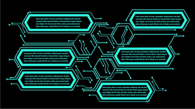 Infographik textfeld neon