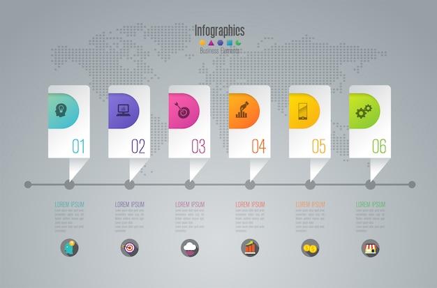 Infographik timeline-elemente