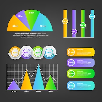 Infographik verlaufselemente