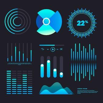 Infographik vorlage dashboard elementsatz