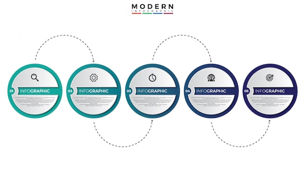 Infographik vorlage der zeitachse 3d