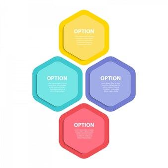Infographik vorlage. diagramm mit vier schritten.