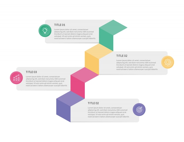 Infographik vorlage für die präsentation