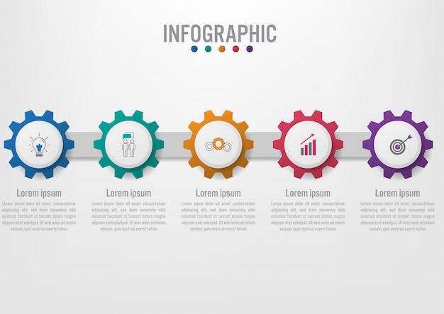 Infographik vorlage für unternehmen mit optionen